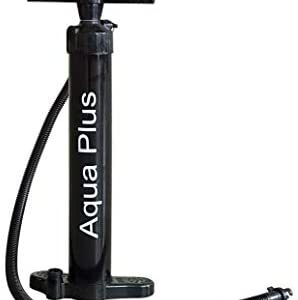 Aqua Plus Inflatable Stand Up Paddle Board High Pressure Double Action SUP Pump (Black, 63cm)