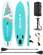 MaxKare Stand Up Paddle Board Inflatable SUP with 10'30''6'' Premium Paddleboard & Bi-Directional Pump & Backpack Portable for Youth Adult Have Fun in River, Oceans and Lakes