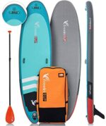 Freein Inflatable SUP Stand Up Paddle Board Yoga ISUP 10'x33 x6 Green Package- Dual Pump, Leash, Adaptor, Backpack,Paddle