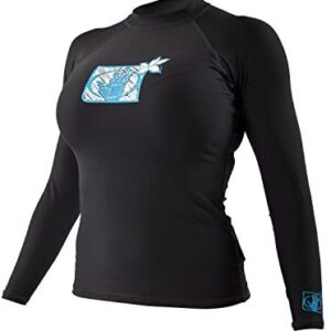 Body Glove 13211W Women's L/A Basic Fitted Long Sleeve Rashguard Top