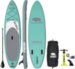 Atoll Inflatable Stand Up Paddle Board SUP, (11ft. x 32in. x 6in.) ISUP, 3 Piece Paddle, Reinforced Travel Backpack and Leash All Included with This Complete iSUP Package