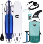"""BEYOND MARINA Inflatable Paddle Boards Ultra-Light Stand Up Paddle Board 10'6'' Long 6"""" Thick Surf Board W Premium SUP Accessories & Carry Bag, Designed Carbon Paddle, 32 inch Wide Stance (Upgraded)"""