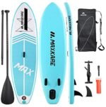 MaxKare 【Limited Time Promotion Inflatable Paddle Board Stand Up Paddle Board SUP with Premium Accessories&Non-Slip Deck ISUP Backpack Paddle Leash Pump Paddle Board for Fishing for Adult & Youth