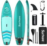 Surfwave Stand UP Paddle Board, 10'8'' Inflatable SUP Board W/Backpack, Camera Mount, 5L Waterproof Bag, Leash, Paddle, Pump, 5MIN Fast Inflate, Ideal for Beginners & Expects, Fresh or Salt Water