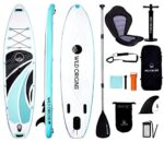 """Wild Origins Inflatable Stand Up Paddle Board 10'6'x31.5""""x6"""" with Free Premium SUP Accessories & Backpack. Non-Slip Deck, Wide Stance, Bonus Waterproof Bag, Leash, Paddle & Hand Pump 