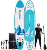 Famistar 12ft 396lbs Capacity All-Around Inflatable Stand up Paddle Board - Stable, Durable and Lightweight Paddleboard for All Skill Levels and SUP Activities | iSUP Accessories & Carry Bag Included