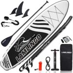 """rolimate Inflatable Stand Up Paddle Board 126""""×33""""×6"""" (6 Inches Thick) with Premium SUP Accessories & Carry Bag 