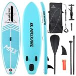 MaxKare Inflatable Paddle Board Stand Up Paddle Board SUP Paddleboard with Premium SUP Accessories & Waterproof Portable Bag Non-Slip Deck Youth & Adult Standing Boat in River Ocean and Lake