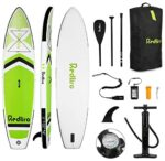 """REDLIRO Inflatable Stand Up Paddle Board Surfing SUP Boards 11' x 32""""x 6""""with Adjustable Paddle, Travel Backpack, Hand Pump, Safety Ankle Leash Standing Boat for Youth & Adult"""