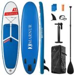 """MARNUR 【Limited Time Promotion Inflatable Stand Up Paddle Board 2021 Latest Upgrade 30"""" SUP Board Set, Inflatable, 350 Lbs, Non-Slip Deck, Paddle Surfboard, Paddle, Pump, Backpack"""