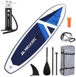 MaxKare Stand Up Paddle Board Inflatable SUP with Triple Action Pump(10 Minutes Inflate), 10.6' Long 32'' Wide 6'' Thick, Max Weight Capacity 370 lbs Enough for 2 People (X-Large)