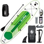 DAMA Youth 10' Inflatable Sup Stand Up Paddle Board, Drop Stitch, Youth Board, Premium Board Accessories, Floating Paddle, Single Hand Pump, Waterproof Bag, All Round Board