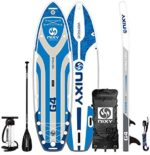 """NIXY Venice Paddle Board Inflatable Cruiser SUP 10'6"""" x 34"""" x 6"""" Ultra-Light Stand Up Paddleboard Built with Dual Layer Woven Drop Stitch Includes Carbon Hybrid Paddle, Pump, Bag & More"""
