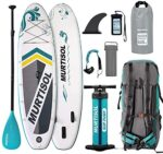 """Murtisol 10.5'33""""6"""" Inflatable Paddle Board Stand Up Paddle Board with Premium Accessories Dual Chamber Triple Action Pump 10L Waterproof Bag Adjustable Paddle Ankle Leash Multifunction Bag"""
