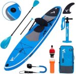 """Freein Stand Up Paddle Board Kayak SUP Inflatable Stand up Paddle Board SUP 10'/10'6""""x31 x6, 2 Blades Paddle, Dual Action Pump, Triple Fins, Leash, Backpack"""