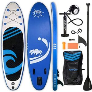 """HIJOFUN Premium Inflatable Stand Up Paddle Board 10'6""""×32""""×6"""" Ultra-Light Standing Boat for Youth & Adult with Non-Slip Deck, Stand Up Paddle Board, Adj Paddle,Pump,Travel Backpack,Leash"""