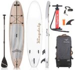 Kingdely Inflatable Stand Up Paddle Board, 10'6 x 6''x 31'', Comes with Durable SUP Accessories & Portable Carry Bag, Non-Slip Deck, Leash, Paddle and Pump, Standing Boat for Youth & Adult