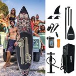 """NUFR 10'6"""" Inflatable Stand Up Paddle Board Sup Non-Slip Deck Inflatable Kayak with 3 Fins Bottom Surf Control,Paddling Paddle,Pump & Carrying Backpack Stand Up Paddle Boards for Adults"""