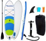 WEIFAN Inflatable Sup Stand Up Paddle Board Dual Chamber Hand Pump Wheeled Travel Backpack Safety Ankle Leash for All Skill Levels