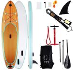 FEIYUN Inflatable Stand Up Paddle Board Adult Surfboard, with Durable Sup Accessories and Carry Bag, Paddle Board Connecting Rope, Adjustable Paddle and Hand Pump