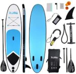 Inflatable Stand Up Paddle Board with All Accessories Thickness Wide Stance Bottom Fin for Paddling for Youth and Adults